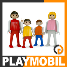 Playmobil Plastic Figures 3D Model