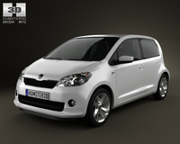 Skoda Citigo 5-door 2013 with HQ Interior 3D Model