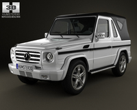 Mercedes-Benz G-Class Cabriolet 3-door 2011 3D Model