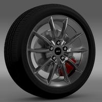 Ford Mustang Shelby GT500KR 2008 wheel 3D Model