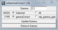 Free crGammaCorrect for Maya 1.5.1 (maya script)
