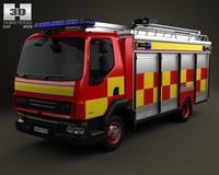 DAF LF Fire Truck 2011 3D Model