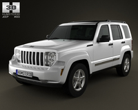 Jeep Liberty (Cherokee) 2008 3D Model
