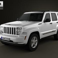 Jeep Liberty (Cherokee) 2008 3D Model