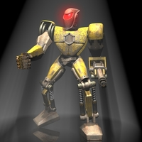 Sands Marauder Robot Character RIGGED 3D Model