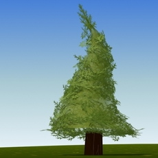 cartoon fir tree 3D Model
