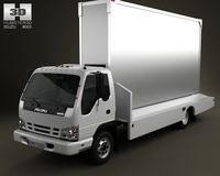 Isuzu NPR Billboard 2011 3D Model