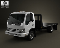 Isuzu NPR Flatbed 2011 3D Model