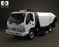 Isuzu NPR Road Cleaner 2011 3D Model