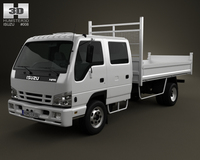 Isuzu NPR Tipper Van 2011 3D Model