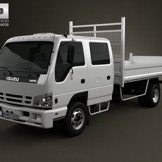Isuzu NPR Tipper Van 2011 3D Model