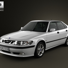 Saab 9-3 Hatchback 5-door 2001 3D Model