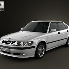 Saab 9-3 Hatchback 5-door 2001 3D Model