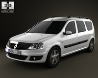 Renault Logan MCV 2011 3D Model