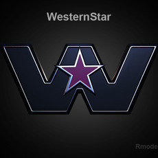 Western Star 3d Logo  3D Model