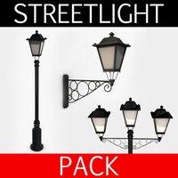Streetlight pack collection 3D Model