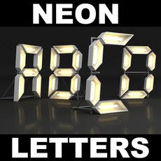 Neon Letters 3D Model