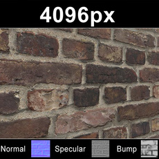 Brick 04 Old Wall - High Res Set