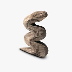 Stone serpent 3D Model