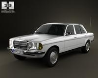 Mercedes-Benz W123 sedan 1975 3D Model