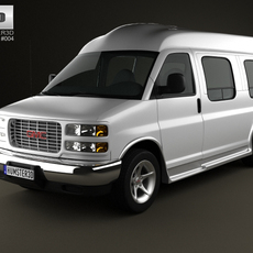 GMC Savana Cargo Van YF7 Upfitter 1997 3D Model