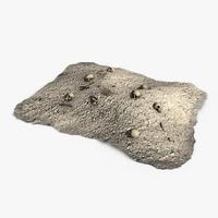 Dirt pile with bones 3D Model