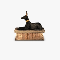 Egyptian Anubis statue 3D Model