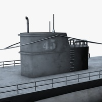 U boat submarine 3D Model