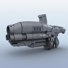 Sci-Fi Gun 3D Model