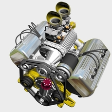 Ardun S.Co.T. Blower V8 Engine 3D Model