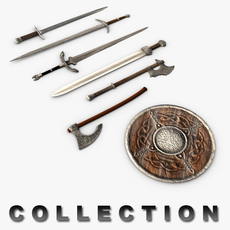 Medieval weapons collection 3D Model