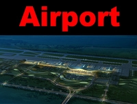 Airport 10 night sence 3D Model