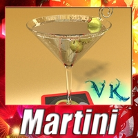 Martini Liquor Glass 3D Model