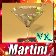 Martini Liquor Glass 3D Model