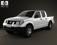 Nissan Frontier CrewCab ShortBed 2012 3D Model