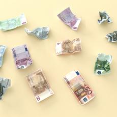 Crumpled Euro money 3D Model