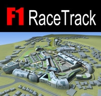 F1 RaceTrack 01 3D Model