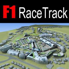 F1 RaceTrack 01 3D Model