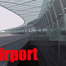 Airport interior 3D Model