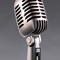 50s Mic & Stand 3D Model