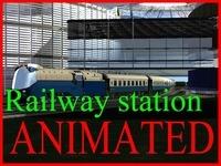 Railway_station 002 3D Model
