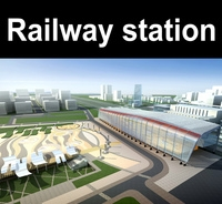 Railway_station 003 3D Model