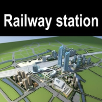 Railway_station 006 3D Model
