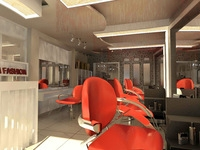 Hairdressing room 001 3D Model