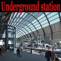 Underground station 001 3D Model