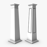 Square craftsman columns 3D Model