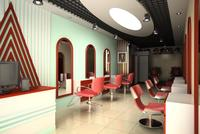 Hairdressing room 003 3D Model