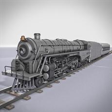 Berkshire Steam Locomotive 3D Model