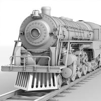 Berkshire Steam Engine 3D Model