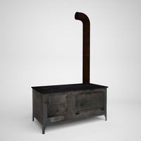 Wood or Coal Stove 3D Model